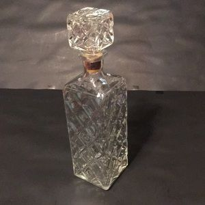Dining - Vintage Glass Liquor or Wine Decanter